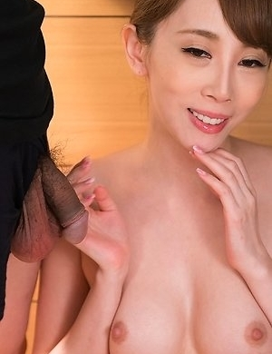 Aya Kisaki Sloppy Seconds Handjob