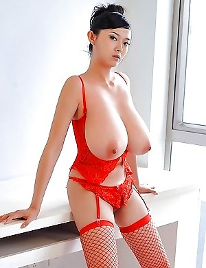 Huge tits nude Asian and Japanese babes photos